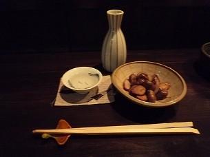 ムカゴバターと徳利とお猪口.jpg